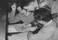 1948 Library: Students Studying