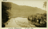 Lower Baker River dam construction 1925-11-21 Lake Shannon (with railroad trestle almost under water)
