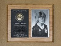 Hall of Fame Plaque: Debbie Carter, Women's Soccer (Midfielder), Class of 2004