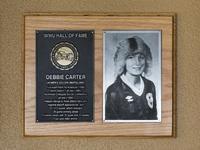 Hall of Fame Plaque: Debbie Carter, Women's Soccer (Midfielder), Class of 2004