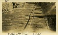 Lower Baker River dam construction 1925-07-11 E. Wall 4th Floor