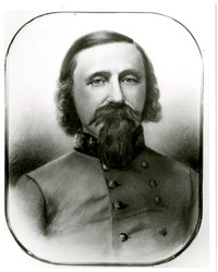 Drawing of Captain George Pickett wearing Confederate uniform (copy)