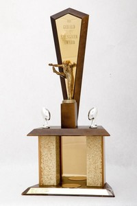"Football Trophy: The Gerald ""Slates"" Salsgiver Award (front), 1966/1968"