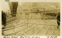 Lower Baker River dam construction 1925-10-16 Rein Steel Run #240 El.422