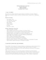 WWU Board of Trustees Minutes: 2018-06-14