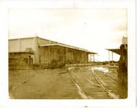 Railway tracks lead to loading platform at Bellingham Cold Storage