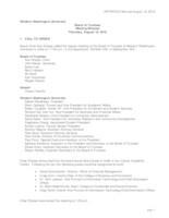 WWU Board of Trustees Minutes: 2016-08-18