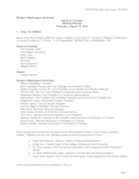 WWU Board of Trustees Minutes: 2016-08-18