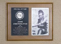 Hall of Fame Plaque: Joanie Armstrong-Ryan, Women's Crew (Stroke), Class of 2002