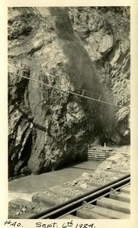 Lower Baker River dam construction 1924-09-06 Upstream rock formation
