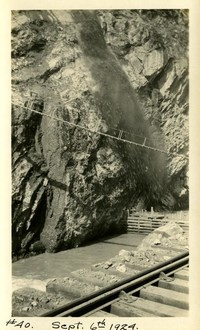 Lower Baker River dam construction 1924-09-06 Upstream rock formation