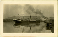 "Port view of ""Windber"" cannery vessel in Bellingham Bay"