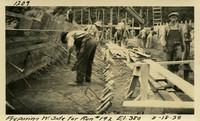 Lower Baker River dam construction 1925-08-18 Preparing W. Side for Run #192 El.380