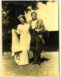Unidentified bridal couple