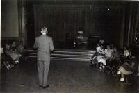 1950 Dr. Hawk Talking To Students In Auditorium