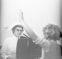 1960 Girl Having Her Hearing Testing