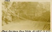 Lower Baker River dam construction 1925-10-04 Rock Surface Run #230 El.385.5
