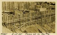 Lower Baker River dam construction 1925-02-15 Forms Set for Run #16