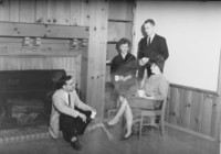 1960 Students teachers relax in Campus School dining room