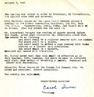 AS Board Minutes 1951-01