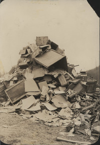 1929 Bonfire Pile