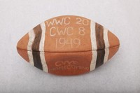 Football: Football commemorating Western Washington's victory at Central Washington homecoming, 1949