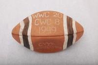 Football: Football commemorating Western Washington's victory at Central Washington homecoming, 1949