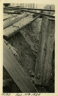 Lower Baker River dam construction 1924-11-19 Damaged timber