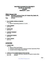 WWU Board of Trustees Packet: 2014-02-7
