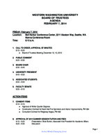 WWU Board of Trustees Packet: 2014-02-7