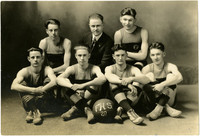 Fairhaven High School boys basketball team with coach