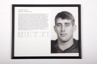 Football Photograph: Chris Nicholl, #86, Wide Reciever, list of honors and records, 1993/1996
