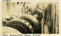 Lower Baker River dam construction 1925-09-05 Main Generator Room
