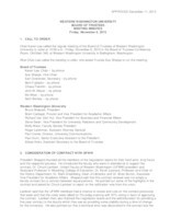WWU Board of Trustees Minutes: 2015-11-06