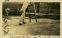 Lower Baker River dam construction 1925-05-22 Concrete Surface Run #111 El.294