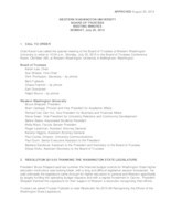WWU Board of Trustees Minutes: 2015-07-20