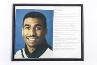 Football Photograph: Orlondo Steinauer, Cornerback #2, list of honors and records, 1992/1996