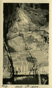 Lower Baker River dam construction 1924-10-06 View of excavation