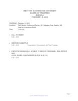 WWU Board of Trustees Packet: 2014-02-6
