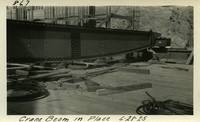 Lower Baker River dam construction 1925-06-28 Crane Beam in Place