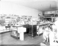 View inside of grocery / bakery / dry goods store.