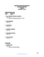 WWU Board of Trustees Packet: 2013-12-13