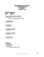 WWU Board of Trustees Packet: 2013-12-13