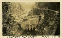 Lower Baker River dam construction 1925-04-26 Upstream Face of Dam