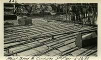 Lower Baker River dam construction 1925-06-26 Reinf Steel & Conduits 3rd Floor