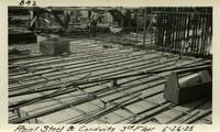 Lower Baker River dam construction 1925-06-26 Reinf Steel & Conduits 3rd Floor