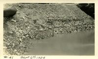 Lower Baker River dam construction 1924-09-06 Drain pipe?