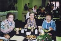 2007 Reunion--Lenore (Rude) Herguth (left) and Marita (Rude) Schafer (center)