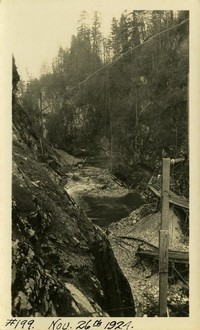 Lower Baker River dam construction 1924-11-26 View of channel