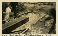 Lower Baker River dam construction 1925-05-15 Rock Surface P.H. Foundation